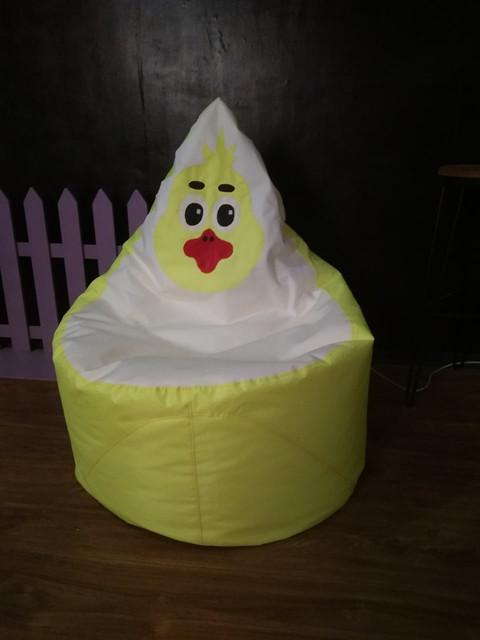 """Безкаркасне крісло-мішок """"Каченя"""" (розмір Стандарт - 90х70 см). АКЦІЯ -25% до 03.04.20"""