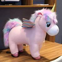 Мягкая игрушка пони единорог, разные варианты расцветки 35*30 см