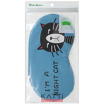 24304 повязка для сна KATTi Creative CATs синяя с котом, фото 2