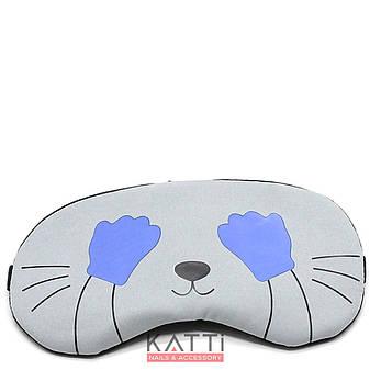 24305 повязка для сна KATTi Creative CATs голубая котик, фото 2