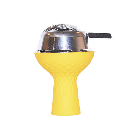 Комплект чаша силиконовая 3 камеры с пазом+калауд желтый, фото 2