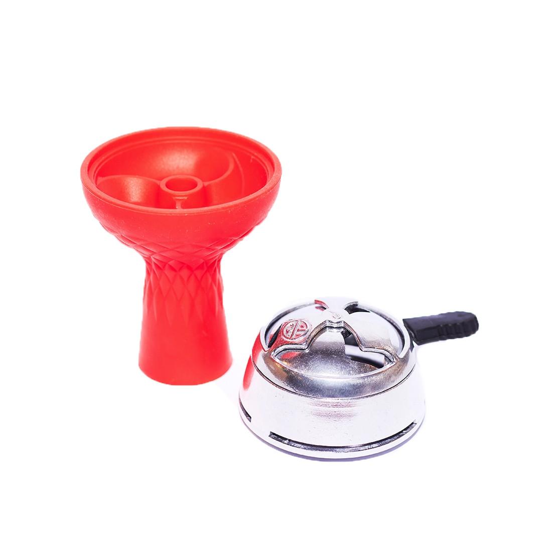 Комплект чаша силиконовая 3 камеры с пазом+калауд красный