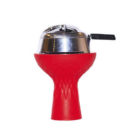 Комплект чаша силіконова 3 камери з пазом+калауд червоний, фото 2