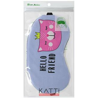 24308 повязка для сна KATTi Creative Animals голубая с кошкой, фото 2