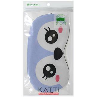 24309 повязка для сна KATTi Creative Animals голубая с пингвином, фото 2