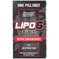 Nutrex Research Жіросжігателя Nutrex Research Lipo-6 Black Ultra Concentrate, 60 капс.