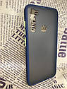 Чехол Xiaomi Redmi Note 8 противоударный бампер накладка цветная окантовка синий желтые кнопки, фото 2