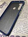 Чехол Xiaomi Redmi Note 8 противоударный бампер накладка цветная окантовка синий желтые кнопки, фото 3