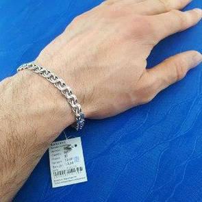 Серебряный браслет Бисмарк. Красивый мужской браслет.