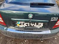 Накладка на задний бампер Skoda Octavia Tour A4 c загибом