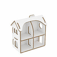 Кукольный домик из картона (27,5х27х15,5см). Раскраска. Настільний будинок S.
