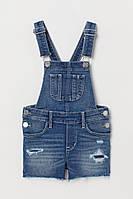 Джинсовые шорты-комбинезон H&M (Швеция) 110, 116, 122см