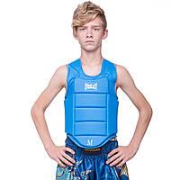 Защита корпуса (жилет) для каратэ детская ELS (PU, р-р XXS-XL), фото 1
