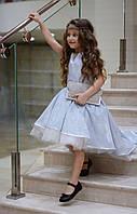 Детское выпускное пышное платье с переливающимся эффектом размер:от 110 см до 146 см