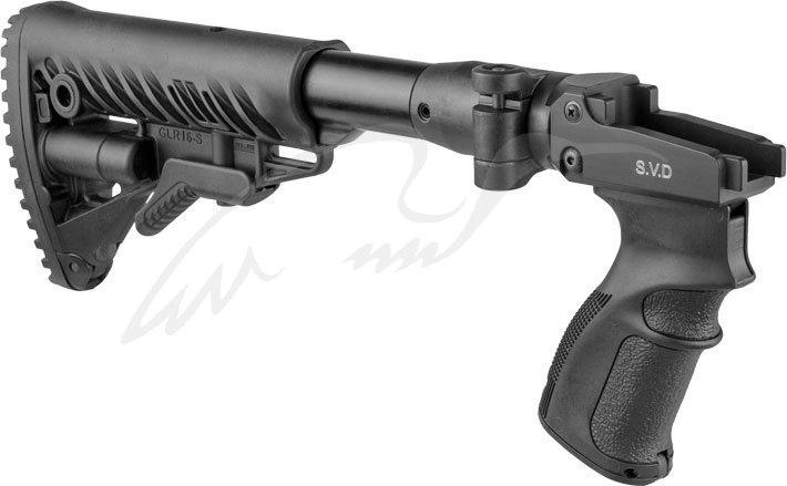 Приклад c адаптером приклада FAB Defense М4 для СВД