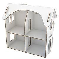 Домик для кукол из картона. Настільний будинок з балконом L. Красится красками, карандашами, фломастерами