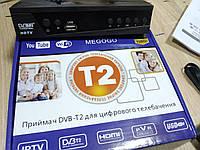 Цифровой ТВ тюнер MEGOGO DVB металлический корпус T2 ресивер FTA с IPTV, Wi-Fi, Youtube, USB Мегого