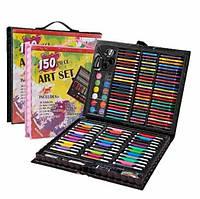 Большой детский художественный набор для творчества и рисования Art set черный