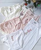 Р-р 110,116,122,128,134,140, набор, комплект белья для девочки (трусики, маечка)
