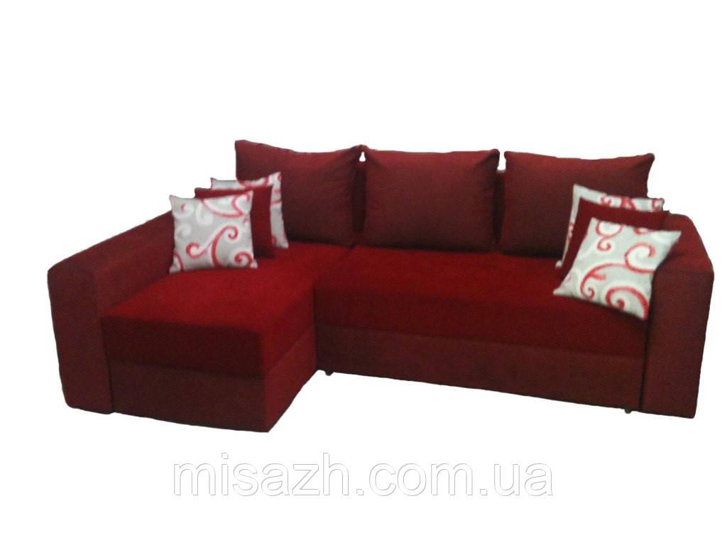 """Угловой диван """"Бали"""" красный. витрина 70."""