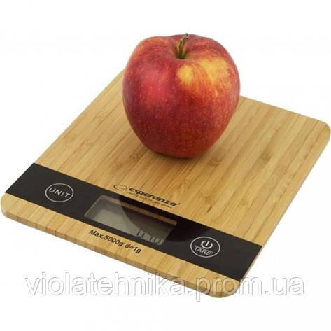 Весы кухонные Esperanza EKS005 Bamboo, фото 2