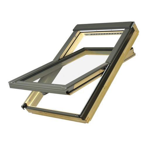 Мансардное окно Fakro FTS-V U4 94х140 см (двухкамерный стеклопакет и вентиляционная щель)