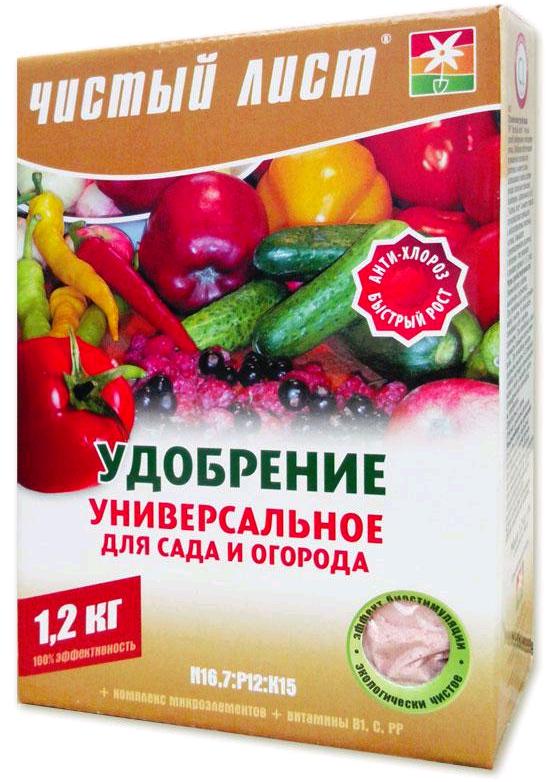 """Удобрение """"Чистый Лист"""" для сада и огорода, 1,2 кг"""