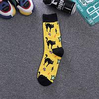 Высокие носки с необычным принтом хэллоуин