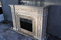 Камин из турецкого мрамора ROSALINE и Imperador Light, фото 1