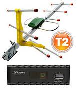 Т2 комплект тюнер Strong 8203 + антена Eurosky ES-003