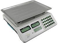 Весы торговые электронные со счетчиком цены на 50 кг CB 5006 Crownberg с 6 вт аккумулятором