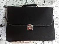 Мужская папка-портфель из искусственной кожи черная  25012