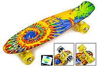 """Penny Board """"Sunflowers"""" Светящиеся колес    пенни пенниборд, фото 1"""