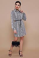 Красивые модные платьяю Платье женское с леопардовым принтом длинный рукав.