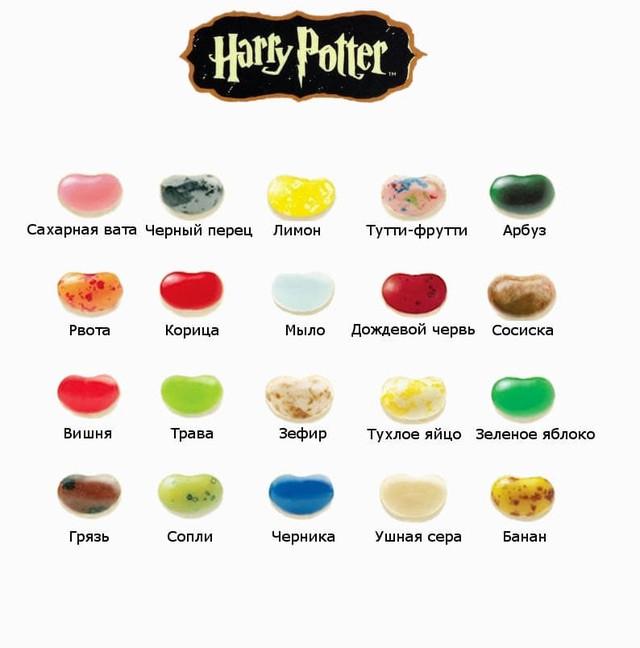 конфеты гарри поттер вкусы