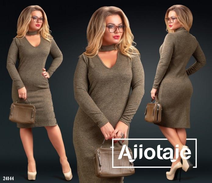 """Оригинальное женское платье ткань """"Ангора"""" мягкая 50, 52, 54, 56 размер батал"""