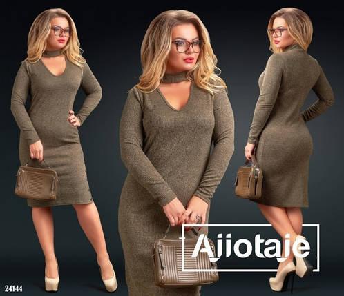 """Оригинальное женское платье ткань """"Ангора"""" мягкая 50, 52, 54, 56 размер батал, фото 2"""
