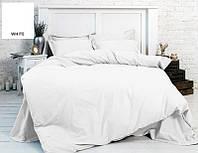 Однотонное постельное белье MirSon бязь White 11-2107 белое Полуторный комплект