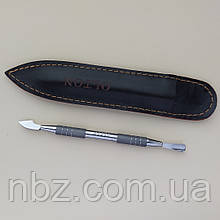 OLTON лопатка маникюрная двусторонняя (пушер для маникюра, шабер)