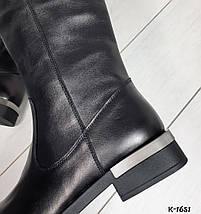 Женские сапоги натуральная кожа черные, фото 2