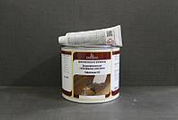 Шпатлевка  2-компонентная полиэфирная мебельная, Holzmasse K2, Темный орех, 750 грамм, Borma Wachs