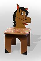 """Стілець дитячий """"Кінь"""" коричневий. АКЦІЯ -25% до 03.04.20"""
