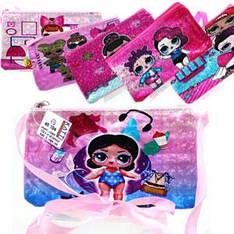 48104 кошелек-сумочка KATTi детская малая LOL цветная прямоугольная 15х9см
