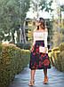 Стильная повседневная макси юбка с розами, фото 2
