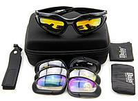 Тактические очки Daisy C5. 4 линзы. Черные