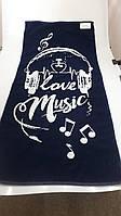 Полотенце махровое ТМ Речицкий текстиль, Love Music 67х150 см