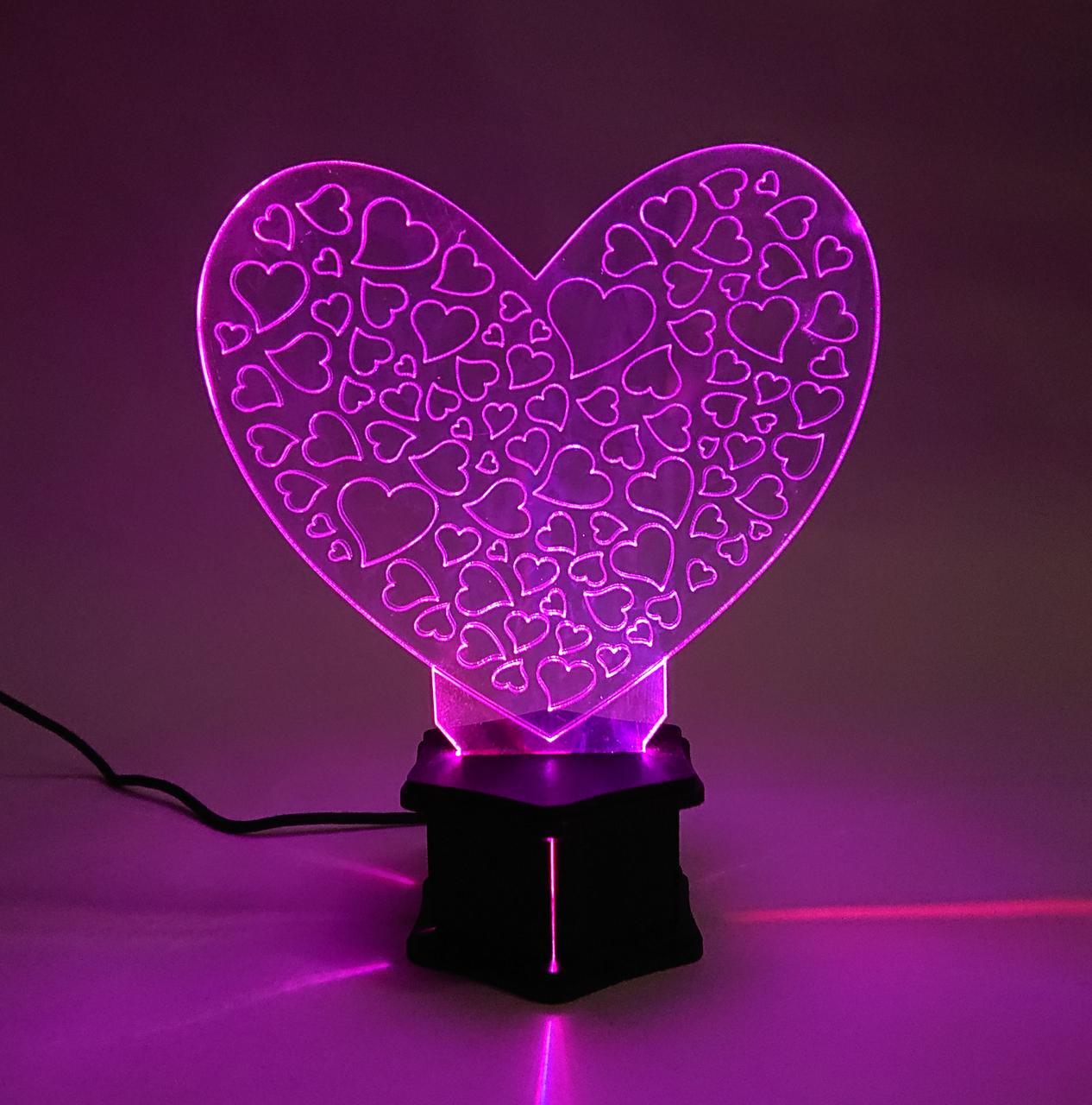 3D ночник Сердце 1 №44