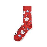 Красные носки с необычным принтом