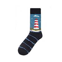 Крутые хлопковые носки с принтом