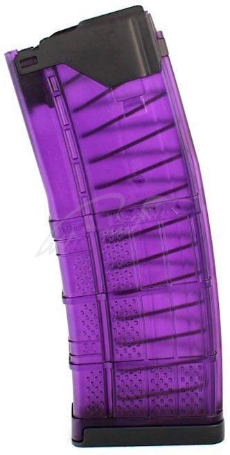 Магазин Lancer L5AWM кал. 223 Rem ц: фиолетовый. Емкость - 30 патронов.